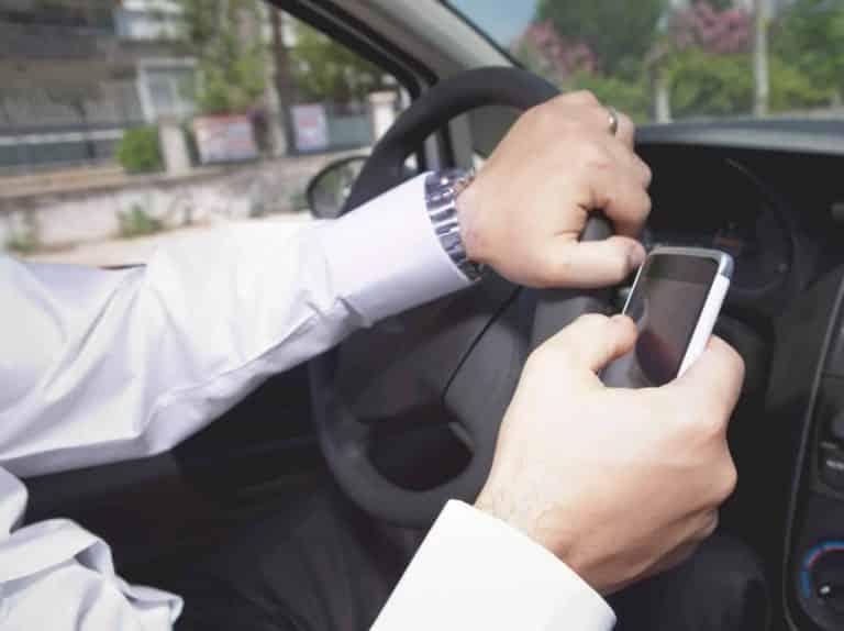 שימוש בטלפון בזמן נהיגה   דוח על טלפון   עו