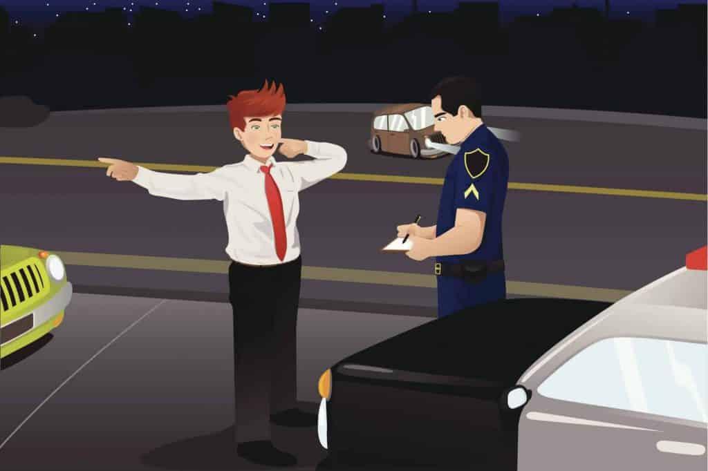 שוטר מעקב נהג לבדיקת מאפיינים