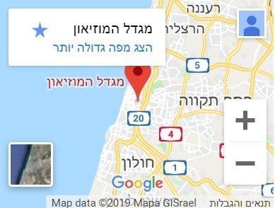מפה של תל אביב המרכז משרד עורכי דין ערן עקראוי